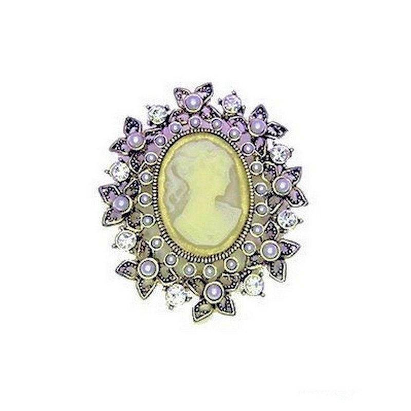 Brooch Vintage Jewelry Cameo by Spring Street Designs