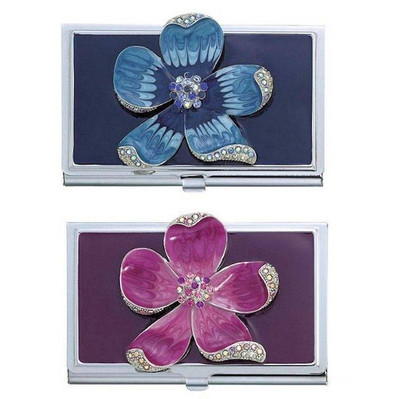 Metal Wallet and Cardholder Blooming Dogwood