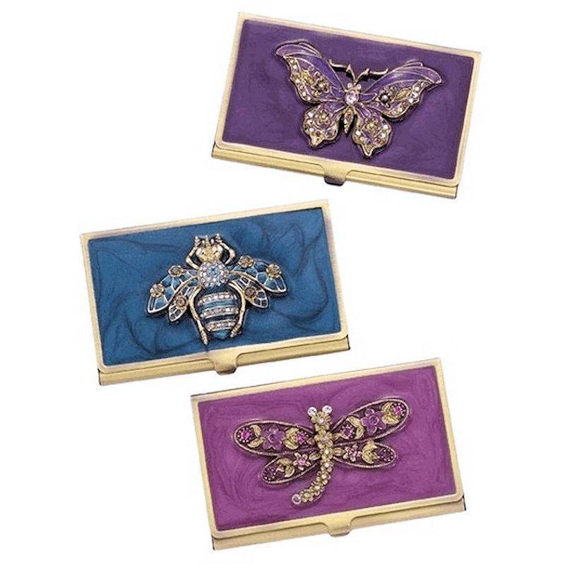 Metal Wallet and Cardholder Jewel Garden