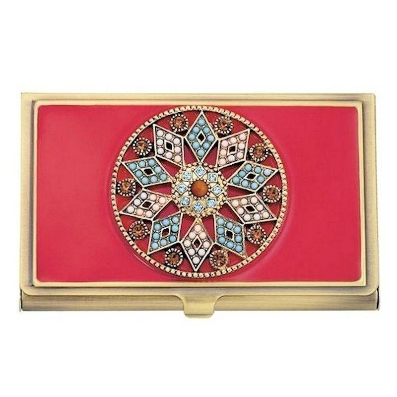 Metal Wallet and Business Card Holder Moroccan Enchantment