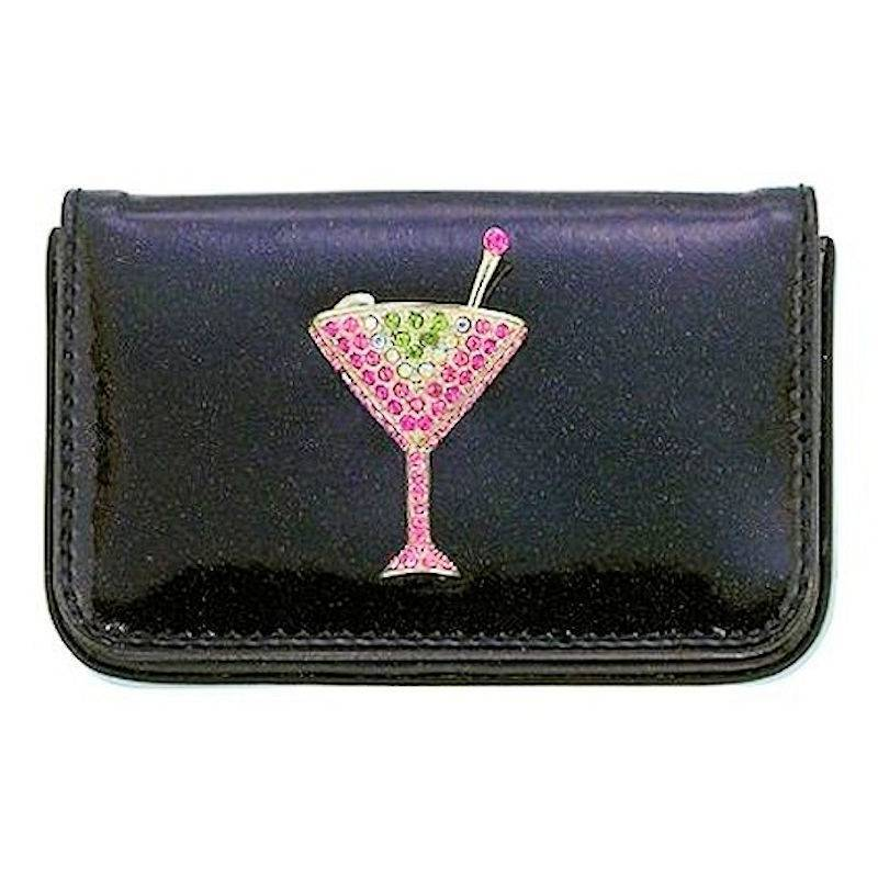 Wallet Crystal Martini Soft Cardholder by Spring Street Designs