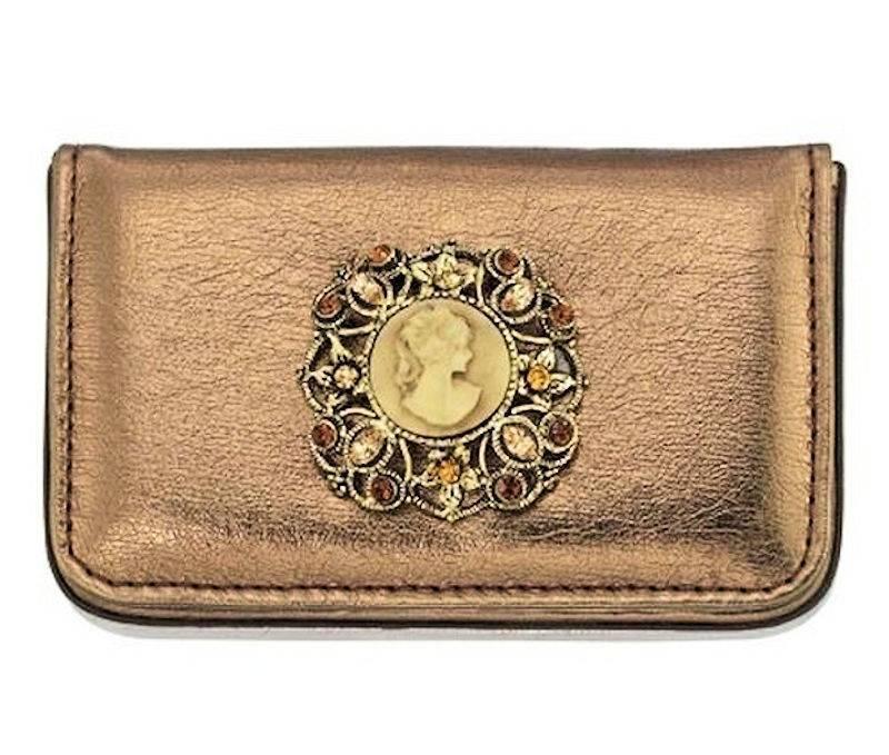 Wallet Vintage Cameo Soft Business Card Holder