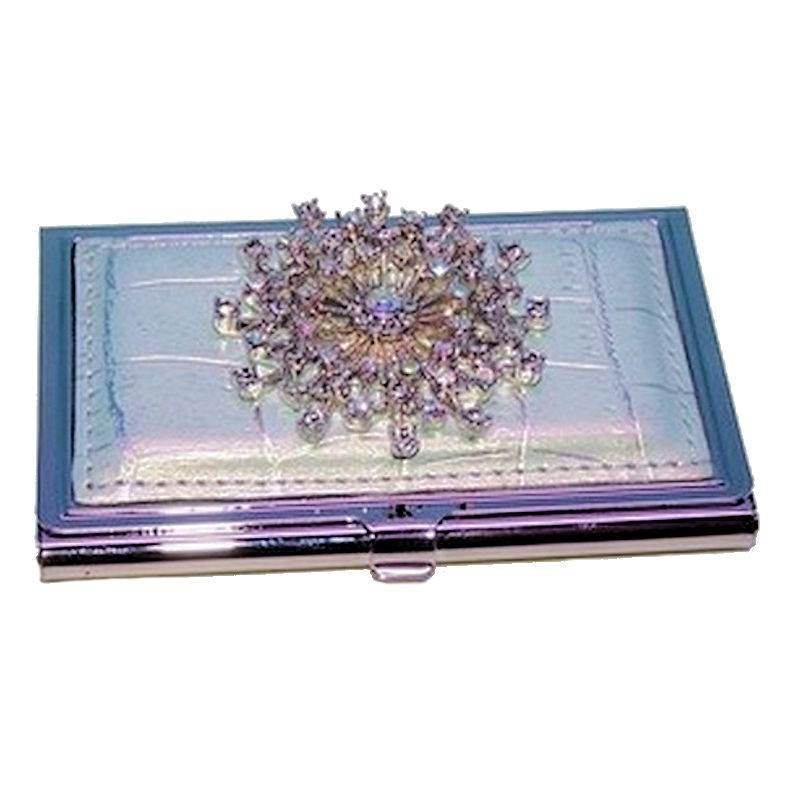 Metal Wallet and Business Card Holder Winter Queen