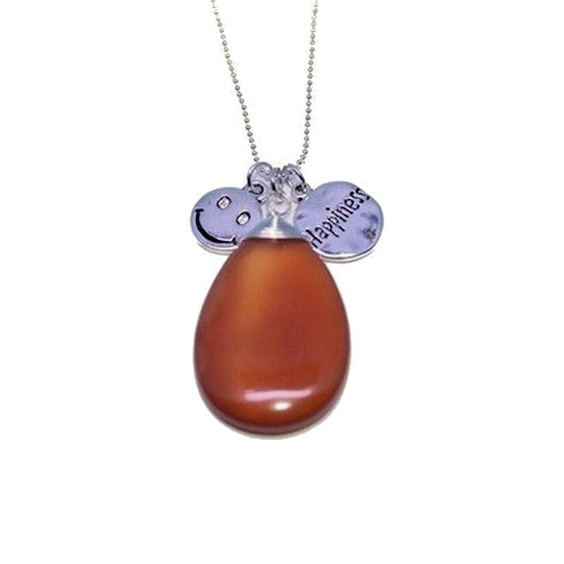 Carnelian Gemstone Necklace with Charms for Happiness