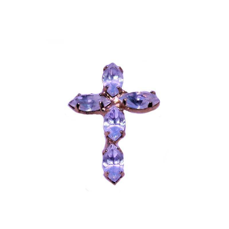 Cross Lapel Pin with Austrian Crystals