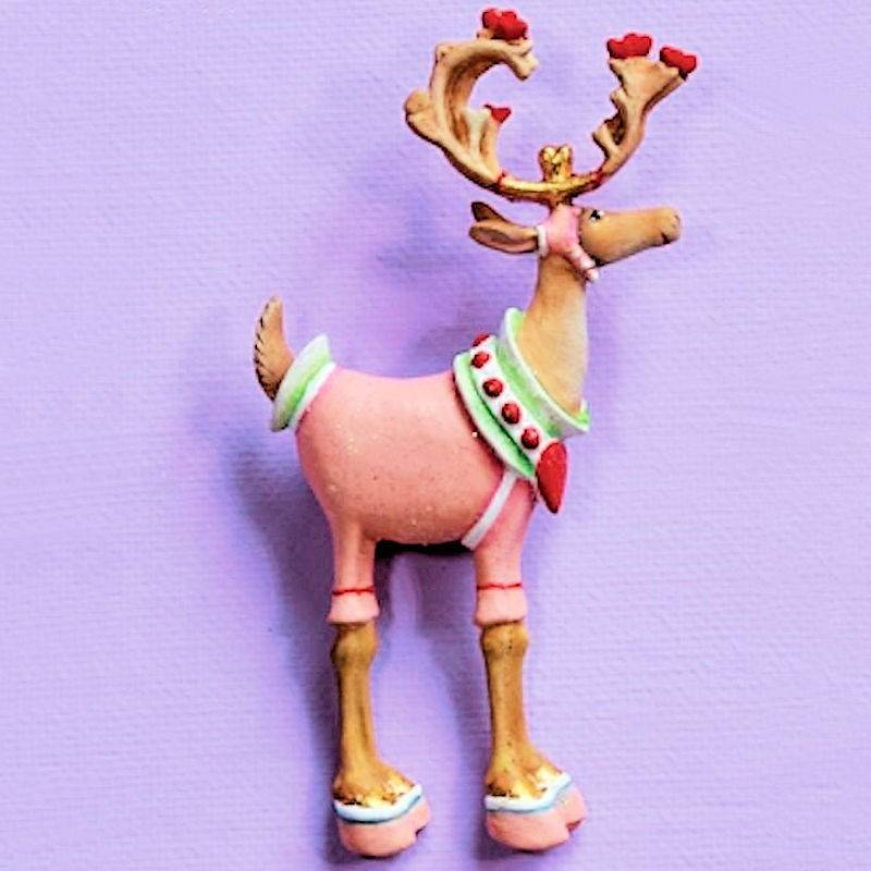 Dash Away Cupid Reindeer Lapel Pin by Patience Brewster