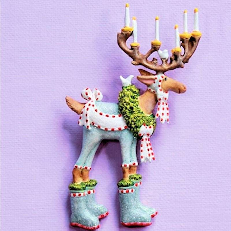 Dash Away Dasher Reindeer Lapel Pin by Patience Brewster