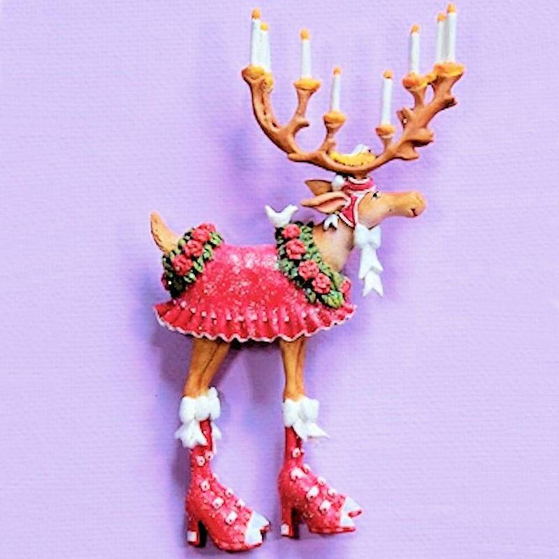 Dash Away Donna Reindeer Lapel Pin by Patience Brewster