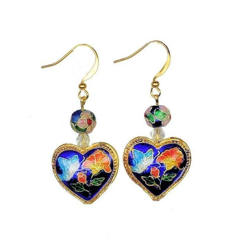 earrings beaded cloisonne enchanted