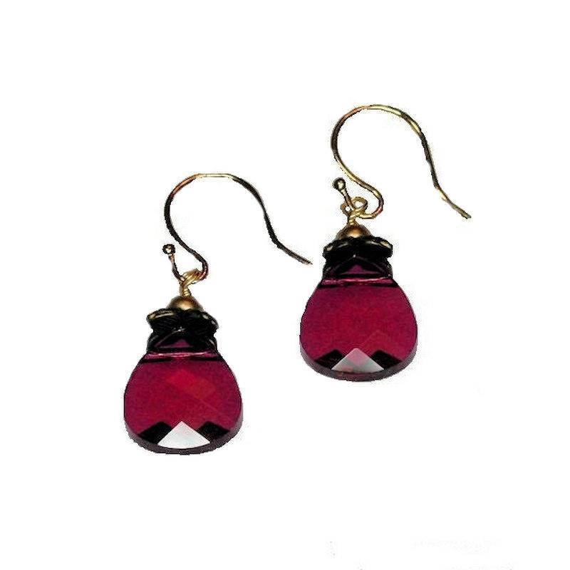 Earrings Crystal Cranberry Drop
