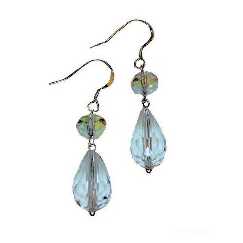 Earrings Simply Elegant Glittering Crystal Droplets