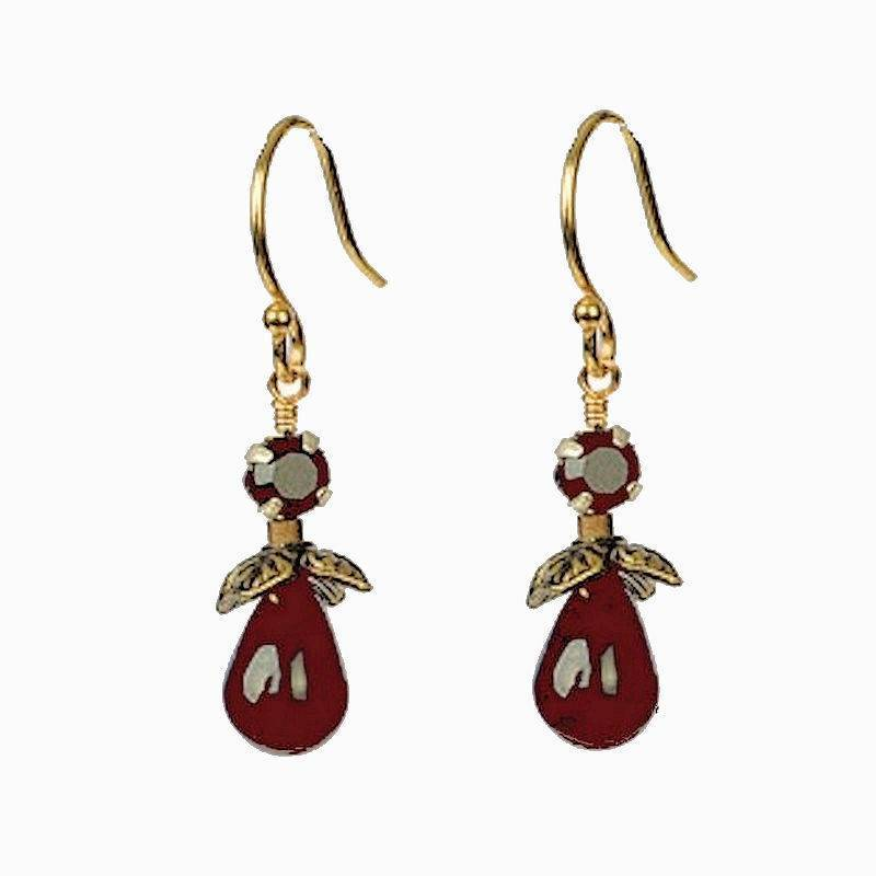 Earrings Elegant Garnet Drop by Robin Goodfellow