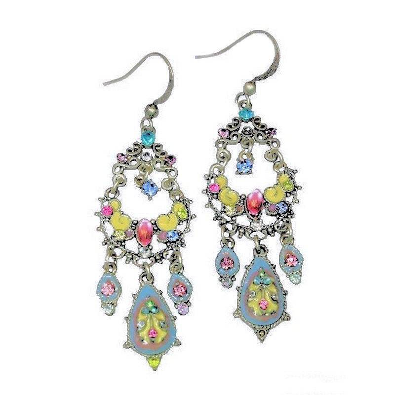 Earrings Chandelier Style Brilliant Color Enchanted Crystals