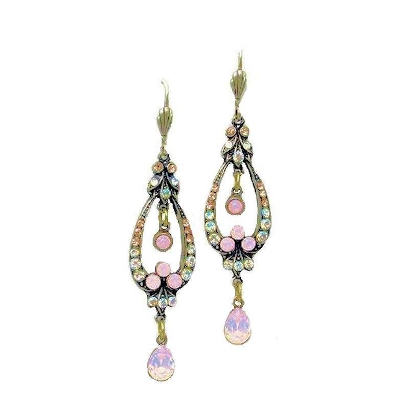 Earrings Chandelier Opal Gemstone Delight