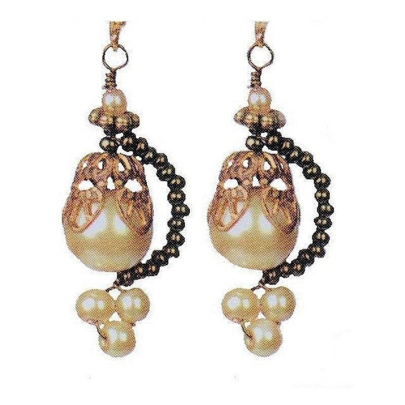 Earrings Pearl Charm from Poetry Collection