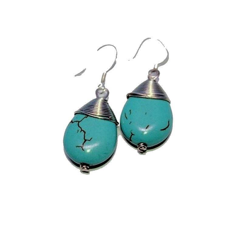 Earrings Gemstone Turquoise for Peace
