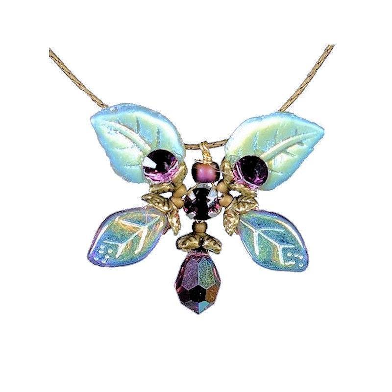 Necklace Handmade Artisan Jewelry Amethyst Butterfly Fairy