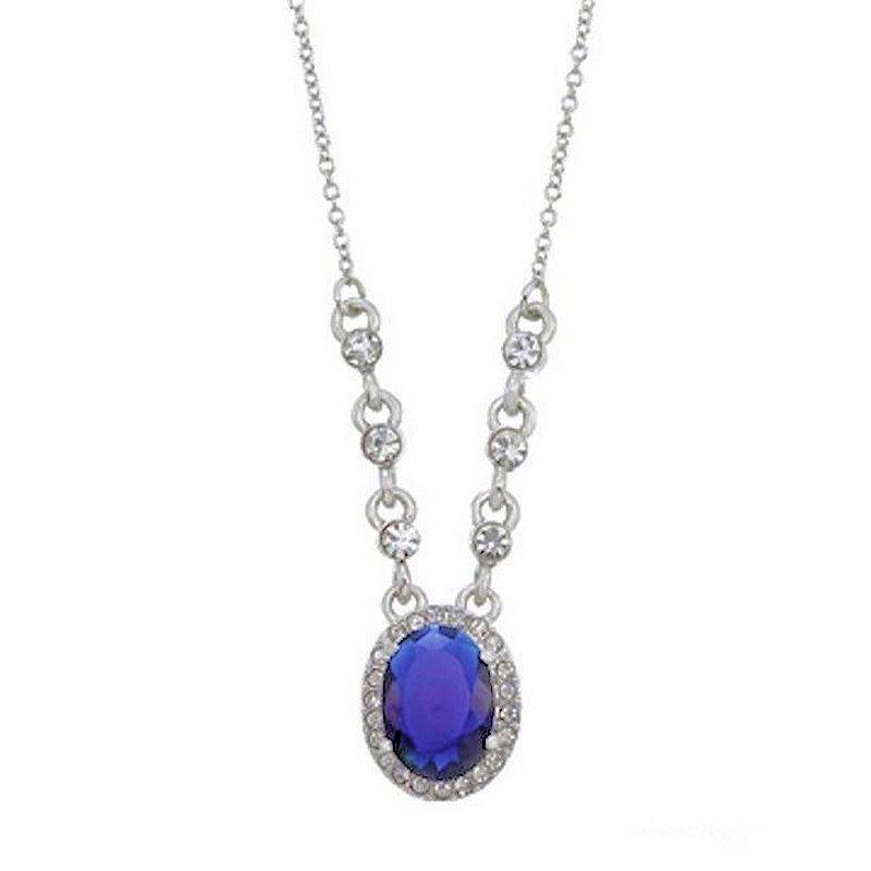 Necklace Elegant Blue Titanic Sparkle