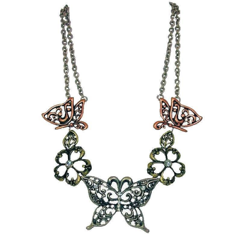Necklace Vintage Butterflies are Free Mixed Metal Colors