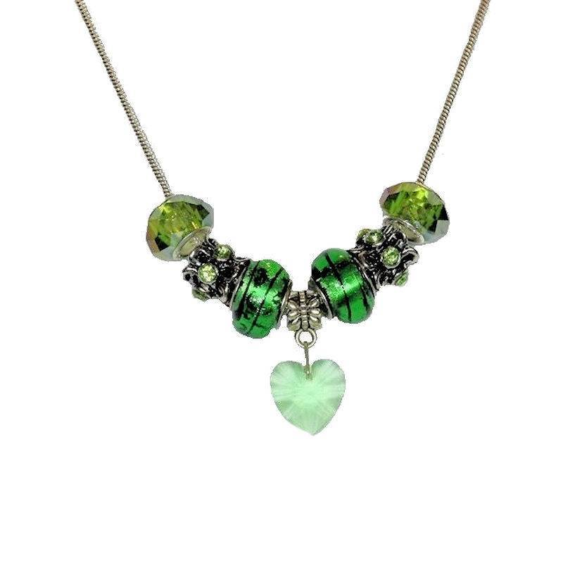 Necklace Beaded Green Irish Fairy Enchantment