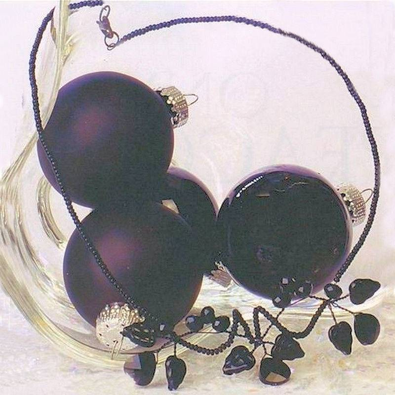 Necklace Handmade Artisan Jewelry Midnight Berry