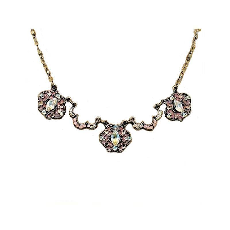 Necklace Cat Eye Crystal Enchantment with Opals