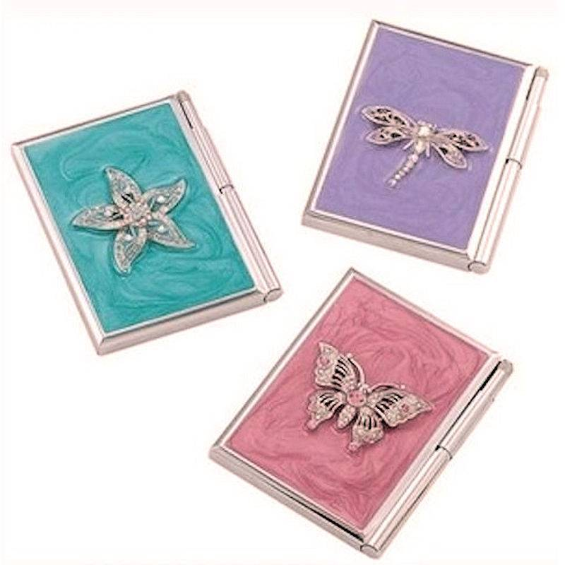 Notepad Holder with Pen Jeweled Metal for Your Handbag