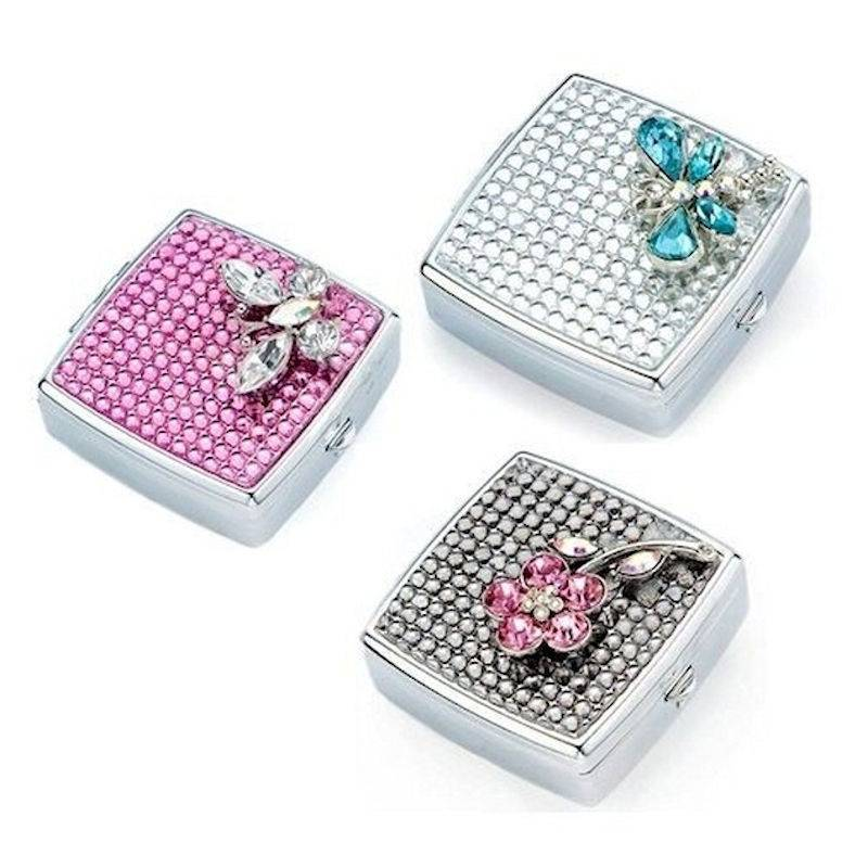Pillbox for Your Purse Crystal Menagerie Petite Size