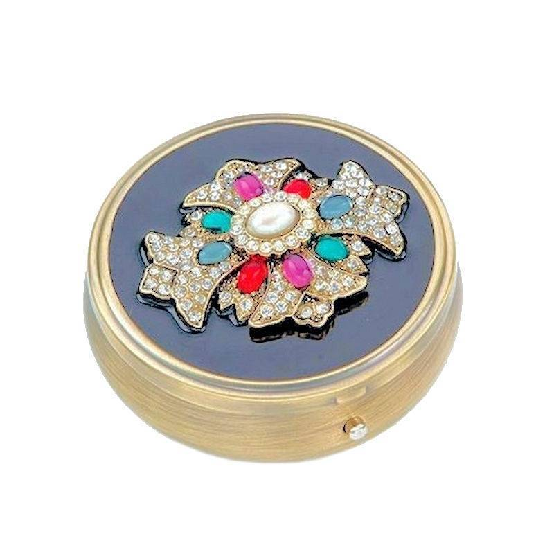 Pillbox for Your Purse Jeweled Cross by Spring Street Designs