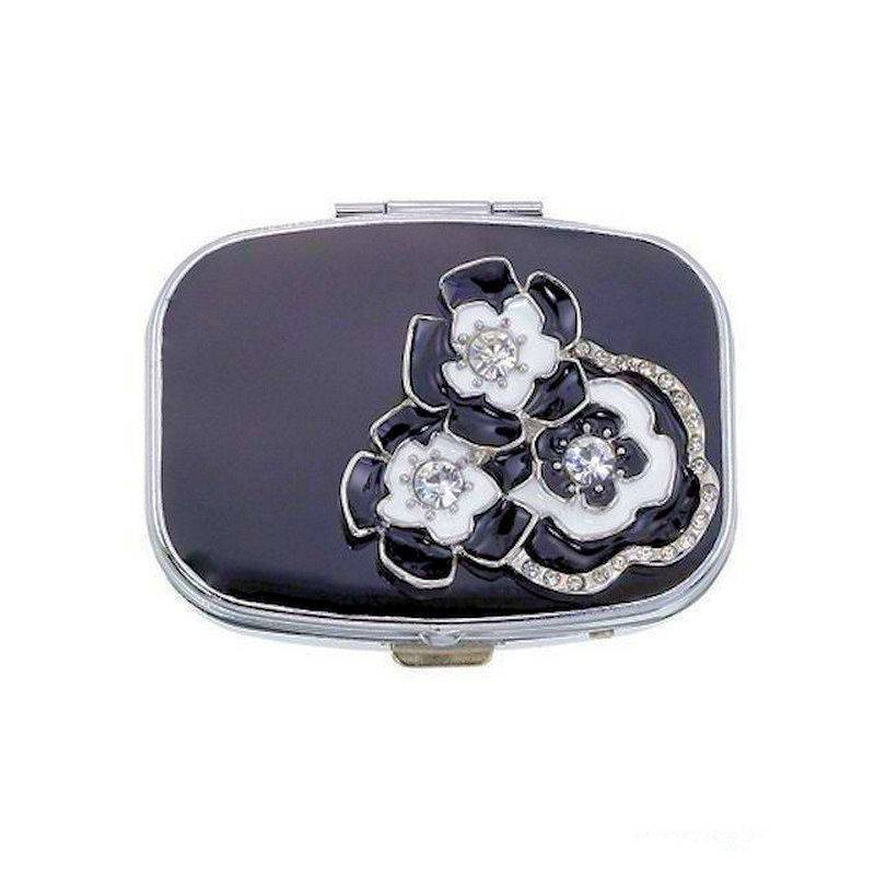Pillbox for Your Purse Tuxedo Flowers by Spring Street Designs