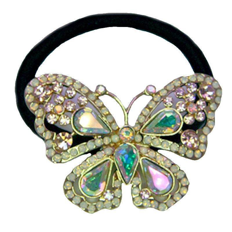 Ponytail Holder Crystal Butterfly by Spring Street Designs