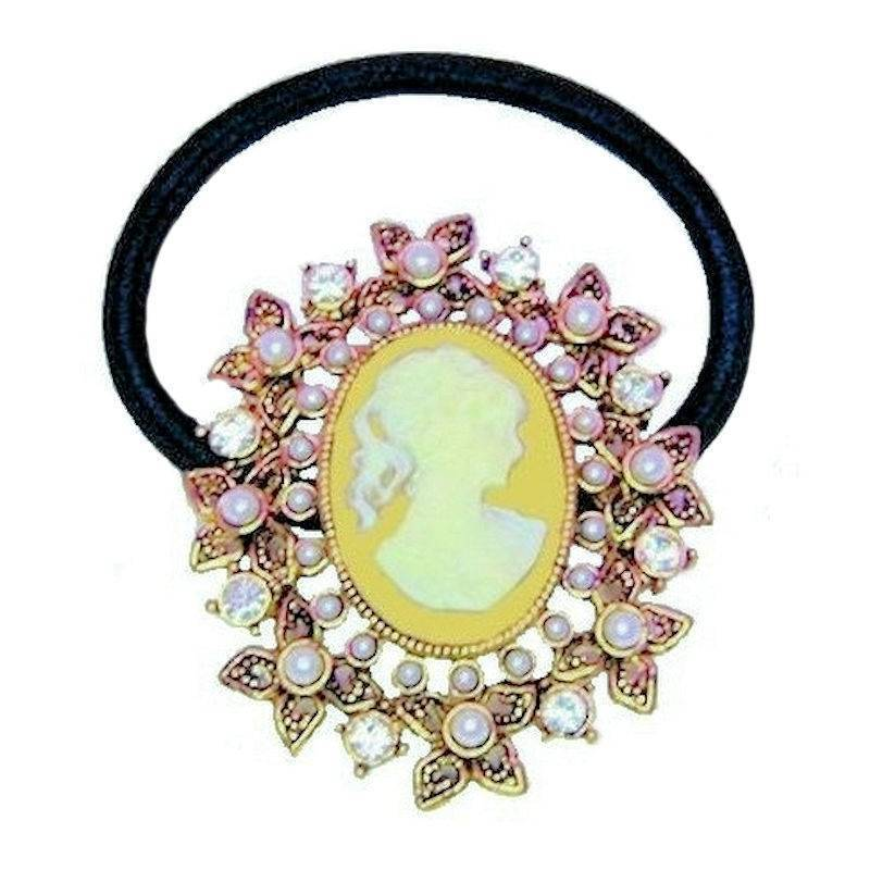 Ponytail Holder Vintage Cameo Hair Jewelry