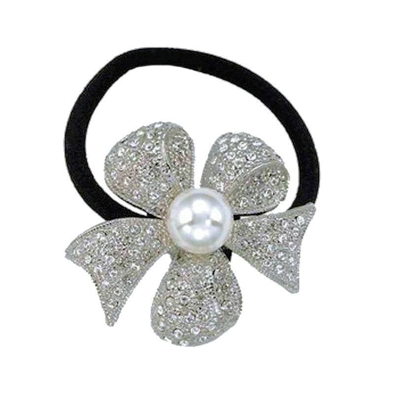 Bridal Ponytail Holder Wedding Bells Collection Crystal Delight