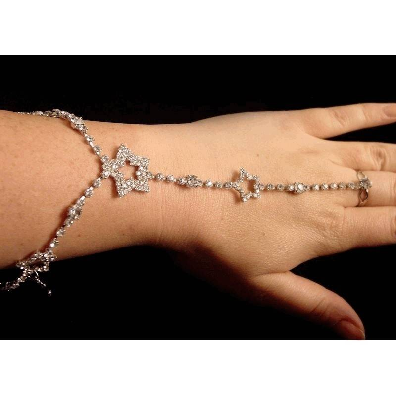 Slave Bracelet Crystal Stars for a Belly Dancing Costume