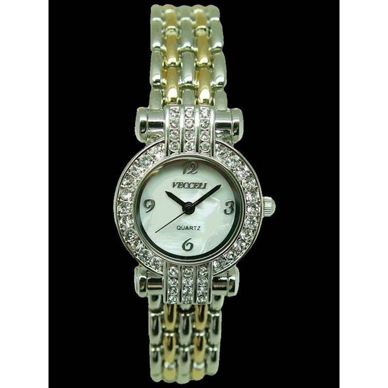 Watch with Crystals Round in Porcelain Egg Gift Box